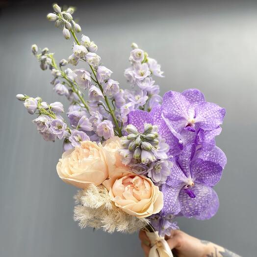 Букет невесты с орхидеей Ванда