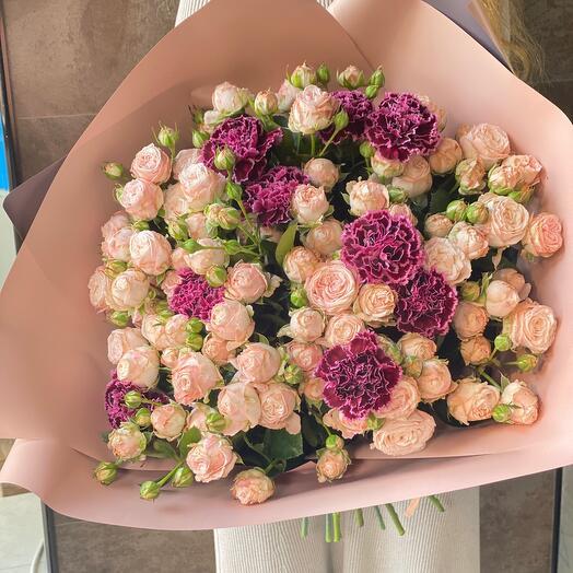 Кустовая Роза 19 штук