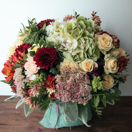Осенняя охапка: букеты цветов на заказ Flowwow