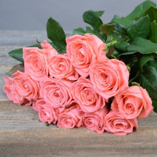 Букет из 13 розовых роз 60 см: букеты цветов на заказ Flowwow