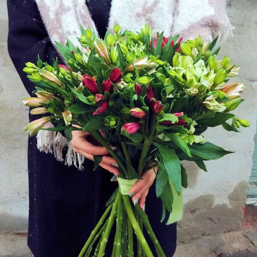 Букет из 15 шикарных альстромерий: букеты цветов на заказ Flowwow