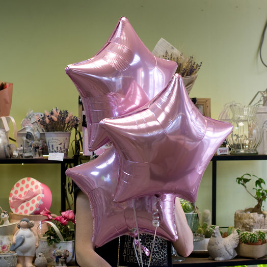 Воздушные фольгированные шарики-звездочки (3)
