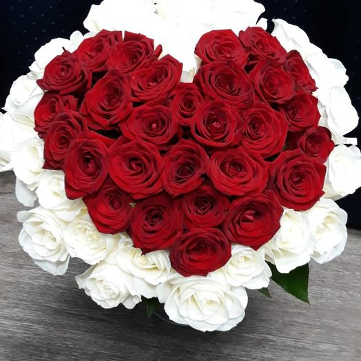 Сердце любви: букеты цветов на заказ Flowwow