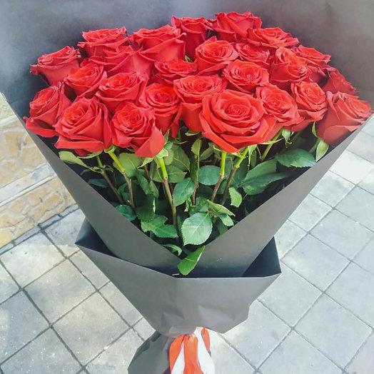 Букет из 25-ти Эквадорских роз