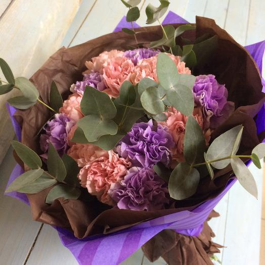 Шикарный букет из гвоздики: букеты цветов на заказ Flowwow