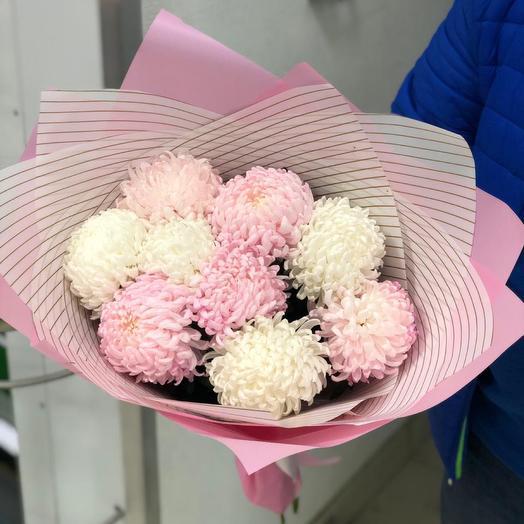 9 шариков хризантем: букеты цветов на заказ Flowwow