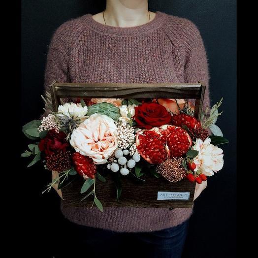 Благородный ящик: букеты цветов на заказ Flowwow