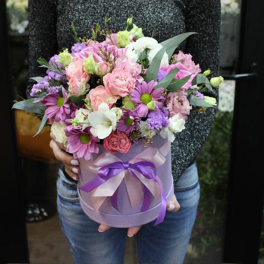 "Букет пионовидных роз ""Лаванда"""