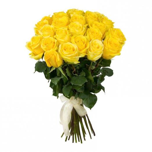 25 солнечных роз: букеты цветов на заказ Flowwow