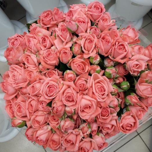 19 кустовых розочек: букеты цветов на заказ Flowwow