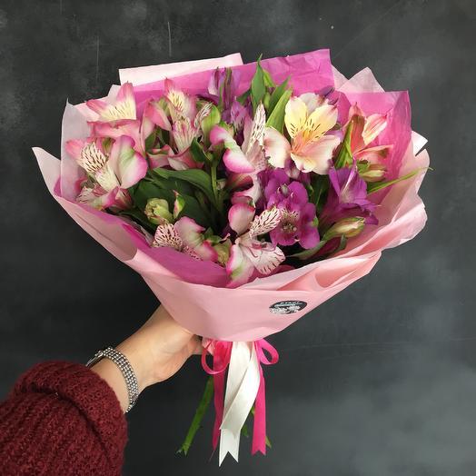 Разноцветные альстромерии: букеты цветов на заказ Flowwow