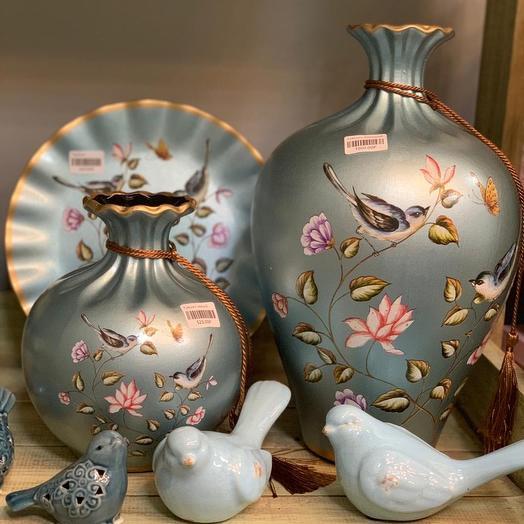Подарочный набор из керамики с ручной росписью: букеты цветов на заказ Flowwow