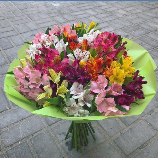 Букет из альстромерии: букеты цветов на заказ Flowwow