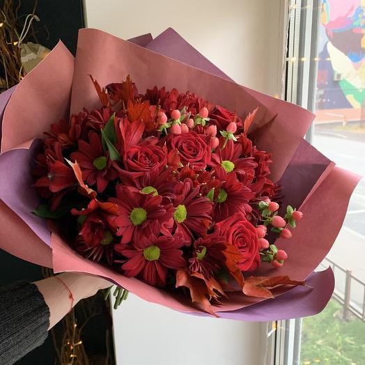 Пламенный букет: букеты цветов на заказ Flowwow