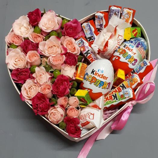 "Большое сердце ""Для Тебя"": букеты цветов на заказ Flowwow"