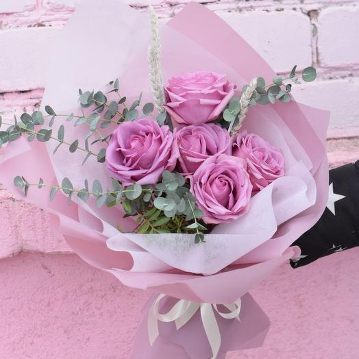 Букет из роз сорта cool water: букеты цветов на заказ Flowwow