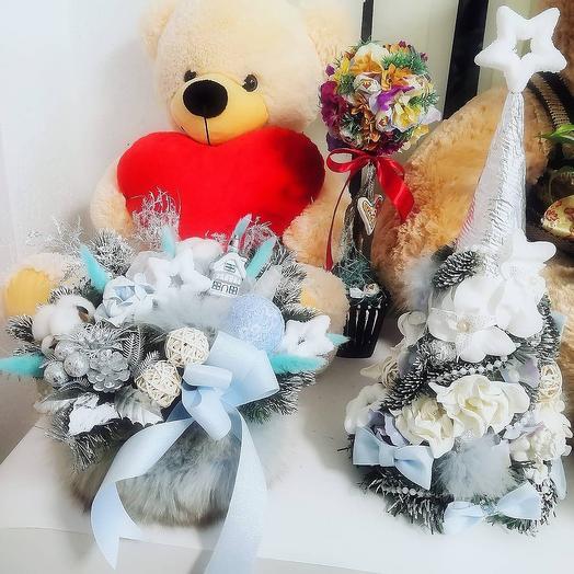 Интерьерый Новогодний декор: букеты цветов на заказ Flowwow