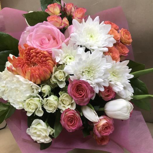 Букет «Розовая нежность»: букеты цветов на заказ Flowwow