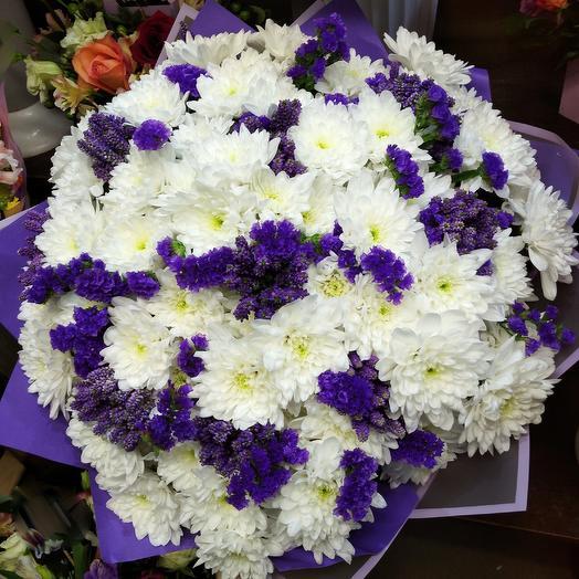 Бело-синяя мечта: букеты цветов на заказ Flowwow