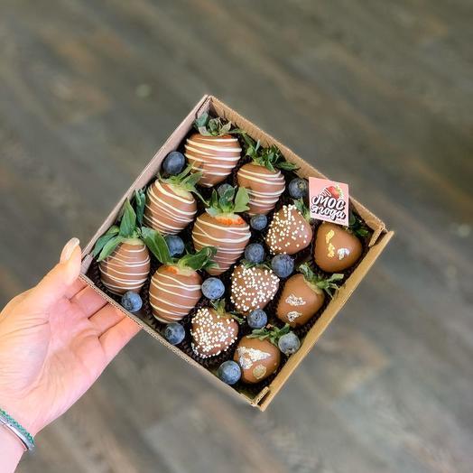 Клубника в бельгийском шоколаде: букеты цветов на заказ Flowwow