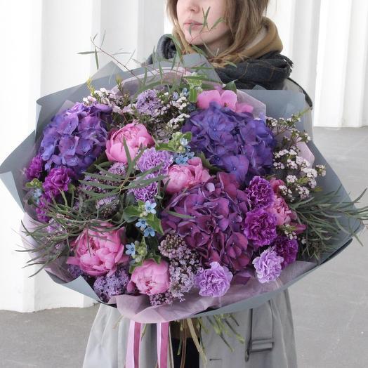 Лиловый поцелуй: букеты цветов на заказ Flowwow