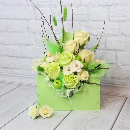 """Композиция """"Зеленое яблоко"""": букеты цветов на заказ Flowwow"""