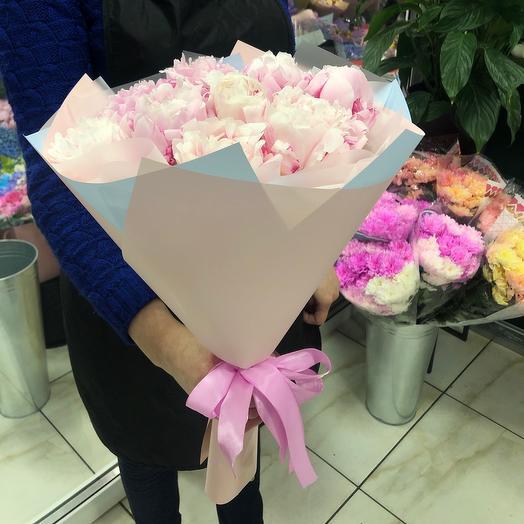 Букет 9 пион: букеты цветов на заказ Flowwow