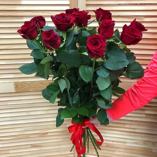 11 голландских метровых (100 см ) роз