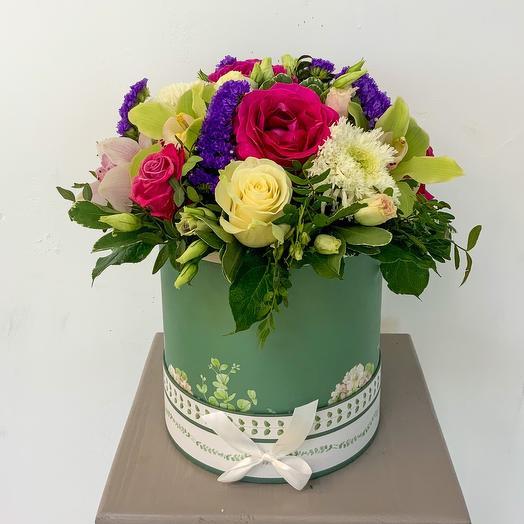 Коробка Яркое утро: букеты цветов на заказ Flowwow