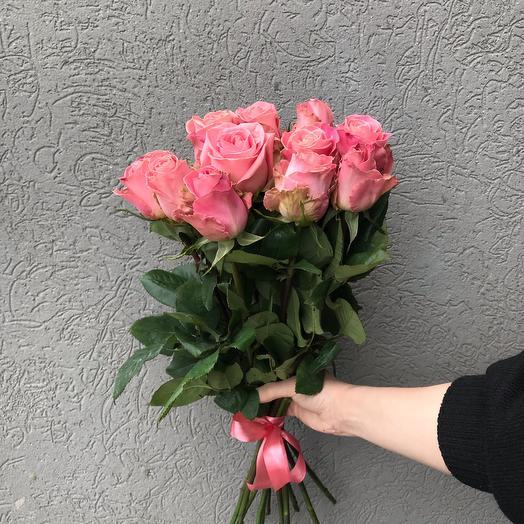 Розовые розы 11