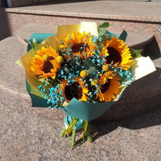 Солнечный всплеск: букеты цветов на заказ Flowwow