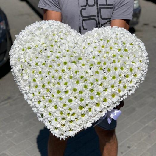 Сердце из ромашек