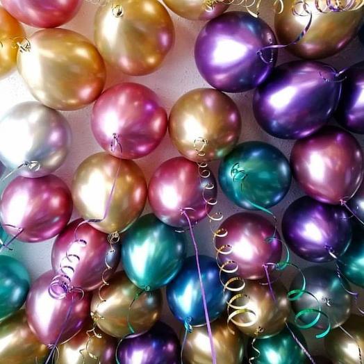 Набор из 35 шаров (хром)
