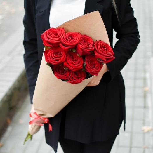 Букет Роз в Крафте Хит