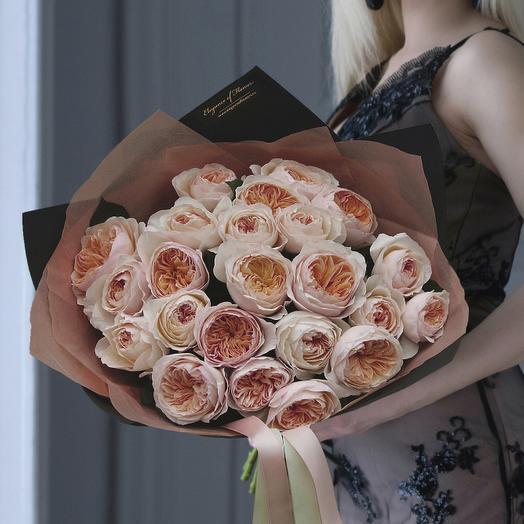 """Букет из пионовидных роз """"Джульетта"""""""
