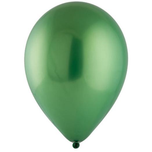 "Шар с гелием 12""/30 см зеленый хром"