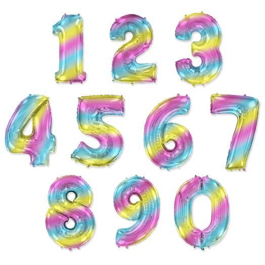 Фольгированные цифры радужные (на выбор*)