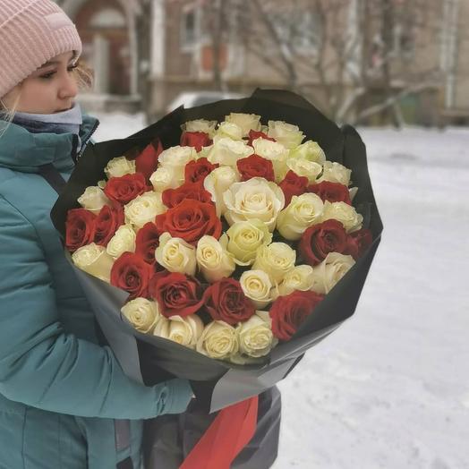 51 роза 70см