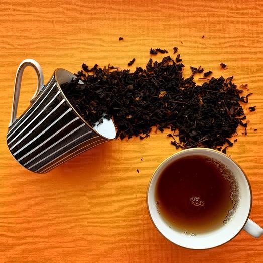 Чёрный чай с облепихой