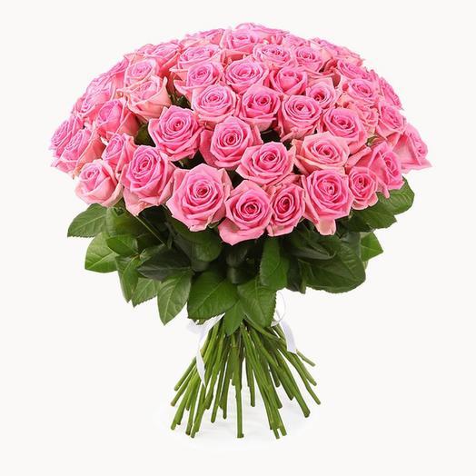 Букет из 51 розовой розы (50 см)