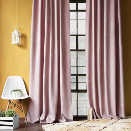 Комплект штор с подхватами Бадди Розовый, 200х270 см - 2 шт