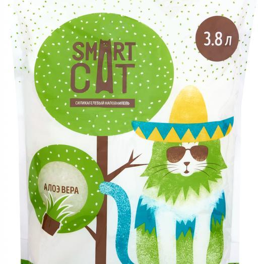 Smart Cat наполнитель силикагелевый с ароматом алоэ 3,8 л