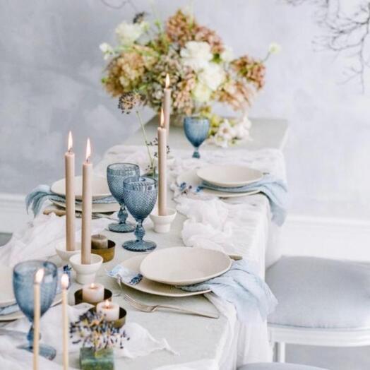 Оформление свадьбы БЕЛО-Голубой