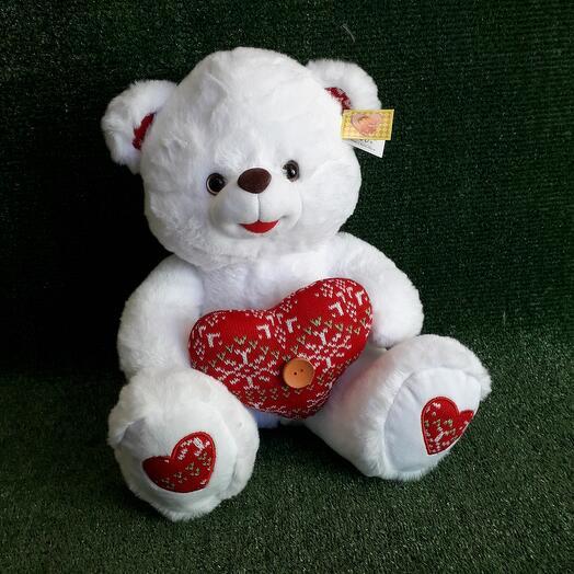 Мишка Вязаное сердце