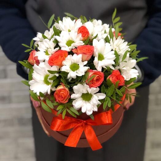 Цветы в коробке 0546