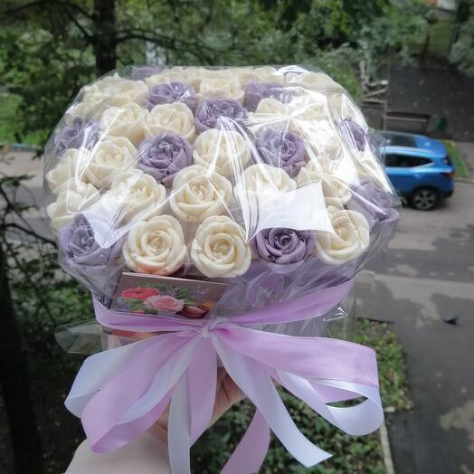 Букет из шоколадных роз учителю
