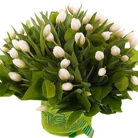 Букет из тюльпанов Хрустальные замки: букеты цветов на заказ Flowwow