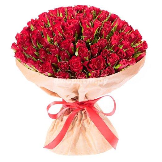 Спецпредложение на 101 розу (цвет микс): букеты цветов на заказ Flowwow