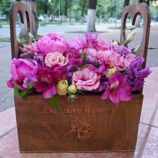 Бокс с цветами 3: букеты цветов на заказ Flowwow