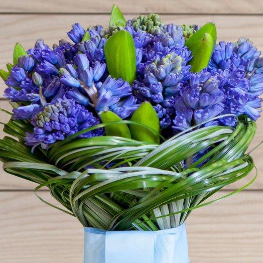 Чудесный и ароматный букет из гиацинтов: букеты цветов на заказ Flowwow